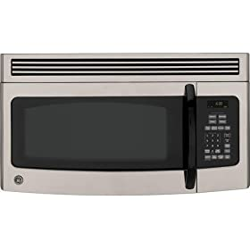 GE Spacemaker JNM1541MPSA 1.5 cu. ft. Over-the-Range Microwave Oven with 300 CFM Venting System, 950 Cooking Watts, Auto/Time Defrost and Non-Vented Installation: Silver