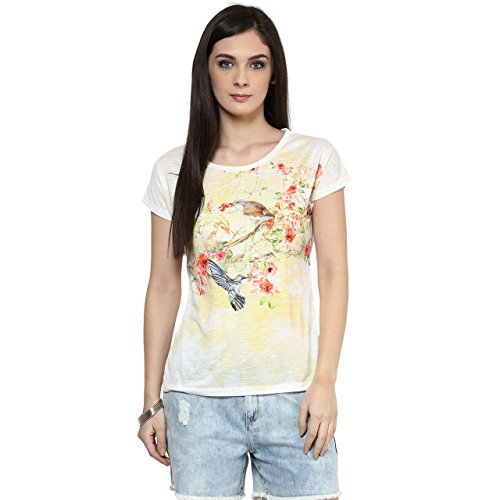 Honey-by-Pantaloons-Womens-Polyester-T-Shirt-205000005545166Off-WhiteM
