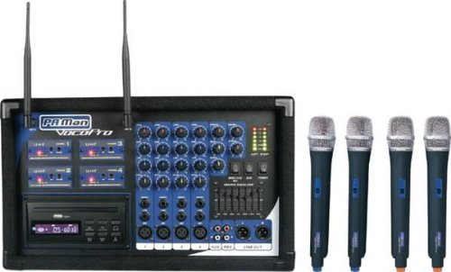 Vocopro PA MAN 4 Channel Wireless Microphone
