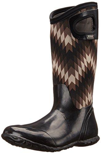 Bogs Women's North Hampton Native All Weather Rain Boot, Black, Gray,11 M US (Bogs Boot Liner compare prices)