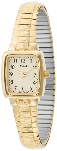 Pulsar PPH520 Women's Yellow Gold Tone Expansion Band Watch