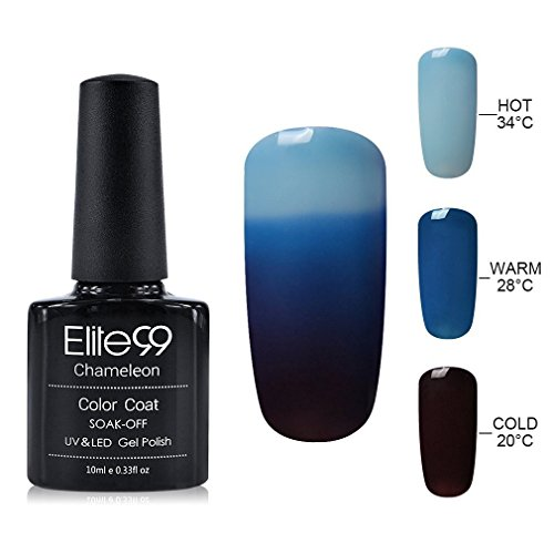 Elite99 UV LED Thermal Temperature Color Changing Gel Nail Polish, 10 ml, 4209 (Color Changing Nail Polish Uv compare prices)