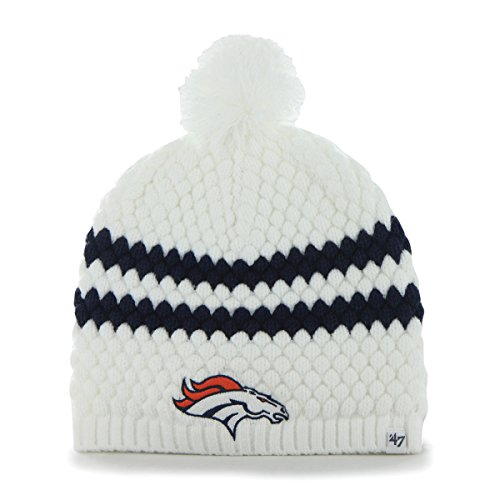 NFL '47 Brand Denver Broncos Women Ladies Kendall Uncuffed Beanie Pom Knit Hat