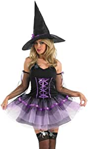 Purple Tutu Witch - Adult Halloween Fancy Dress Costume