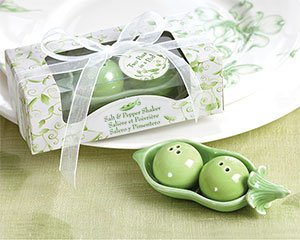 Two Peas in a Pod - Ceramic Salt & Pepper Shakers in Ivy Print Gift Box, 96 (Peas In Pod Salt compare prices)