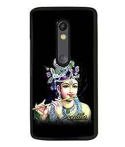 printtech Lord God Krishna Back Case Cover for Motorola Moto G3 , Motorola Moto G (3rd Gen)
