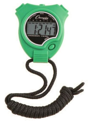 Champion Sports Stopwatch Color: Green (910GN)
