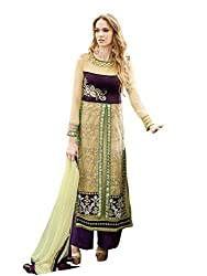 Look N Buy Women's Royal Blue Unstitched Dress Material (331D10005_Royal Blue_Free size)