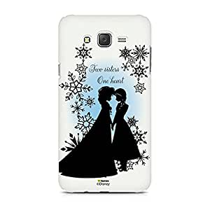 Hamee Disney Princess Frozen Official Licensed Designer Cover Hard Back Case for Samsung Galaxy J7 - 6 2016 Edition (Elsa Anna / Two Sisters)