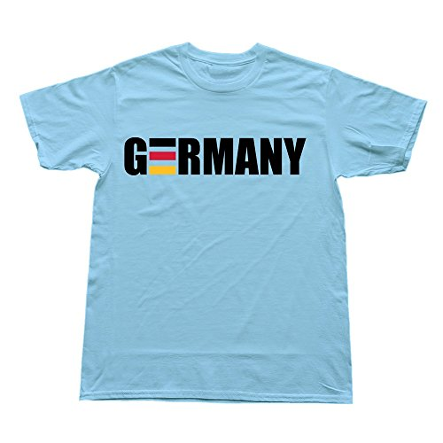 Hoxsin Skyblue Men'S Germany Stripes Love Casual T Shirts Us Size Xxl