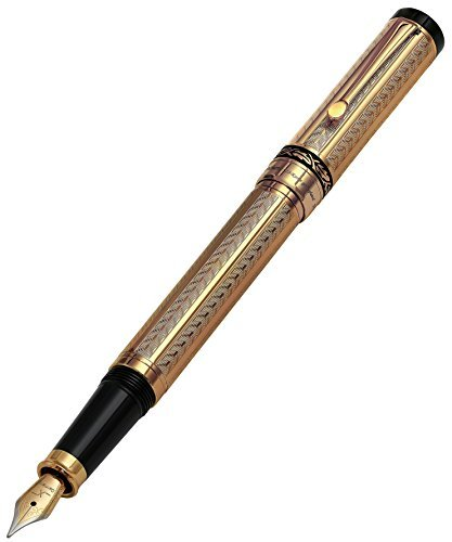 xezo-tribune-18-karat-gold-layered-diamond-cut-fine-fountain-pen-weighty-and-balanced-individually-n