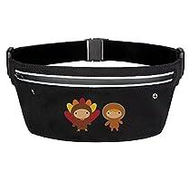 Thanks Giving Cute Kids Cartoon Sports Travel Outdoor Waist Pocket Phone Holder Pack Bags Case