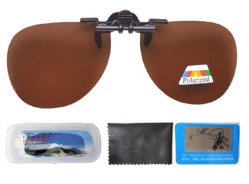Eyekepper Aviator Sonnenbrillen-Clip für Brillenträger Braun