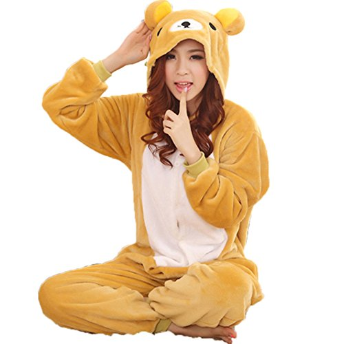 Zerlar Pajamas Animal Costume Onesie Adults Sleeping Wear Kigurumi Cosplay (Teddy Bear Onesie compare prices)
