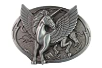 Hogar Mens Zinic Alloy Western Belt Buckle Unicorn Buckles Color Antique Silver