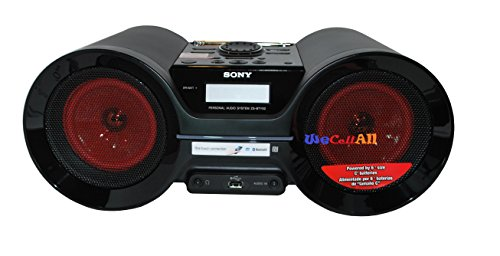 Sony Portable Wireless Bluetooth Boombox Am/Fm Radio Stereo Speaker System With Nfc