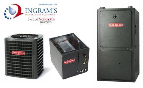 Goodman R410A 13 Seer Complete Split System Ac & Gas 2.5 Ton Gsx130301, Capf3131C6, Gmh950904Cx front-549808