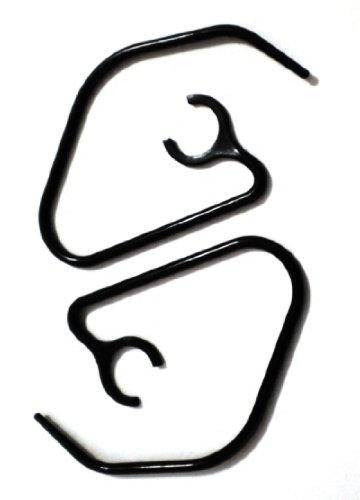 2 New Slim Black Ear Hooks for Emerson EM227 EM228 WM EM-277 EM-228 Bluetooth Headset Ear Loops Clips Stabilizers Earhooks Earloops Earclips Earstabilizers Replacement (Ear Hooks For Emerson Bluetooths compare prices)