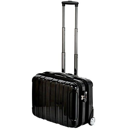 TSA搭載 ビジネスキャリーケース ビジネスバッグ スーツケース ブラック 鏡面加工