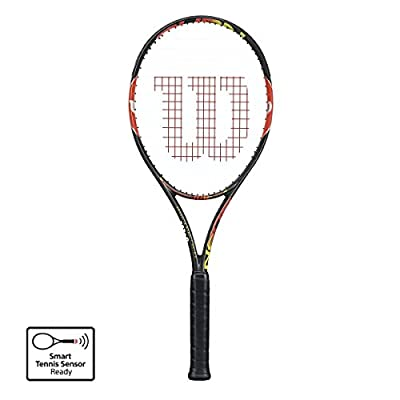 Wilson Burn 100 Team Tennis Racquet (Black)