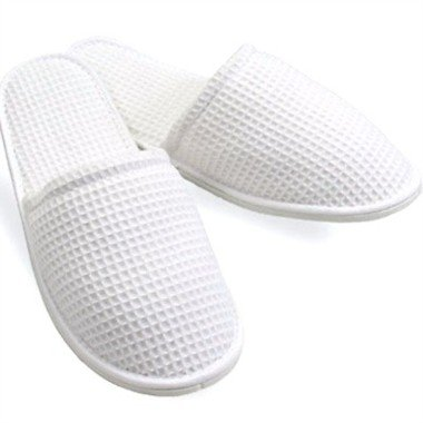 Cheap Light & Luxurious Waffle Slippers in White- (BAC091476) [Kitchen & Home] (BAC091476)