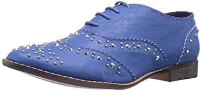 Wanted Shoes Women's Ortley Oxford,Blue,6 M US