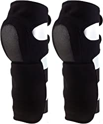 Black Neoprene Sythetic Shin Guards (Set of 2)
