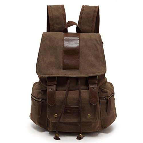 sechunk-multifunction-cotton-canvas-leather-backpack-book-bag-working-bag-travel-duffel-bag-hiking-b