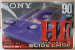 Sony HF 90 Normal Bias Slide Case Audio Cassette Tape