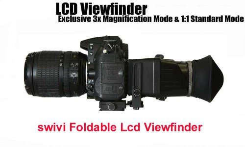Flashpoint Swivi Hd Dslr Lcd Universal Foldable Viewfinder Version Ii With 3.0X Magnification