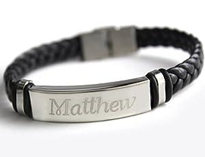 amazoncom name bracelet matthew personalised mens
