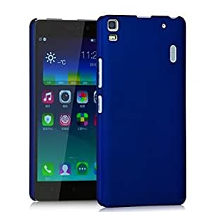 THE AMAZING! Rubberised Matte Hard Case Back Cover For LENOVO A7000 / A7000+ 7000 PLUS (Blue)