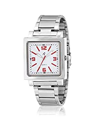 Yepme Men's Chain Watch - White/Silver -- YPMWATCH3362