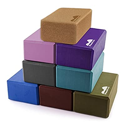 "Reehut Yoga Blocks, 9""x6""x4"" (2-Pack) - High Density EVA Foam Blocks to Support and Deepen Poses, Improve Strength and Aid Balance and Flexibility - Lightweight, Odor Resistant and Moisture-Proof"