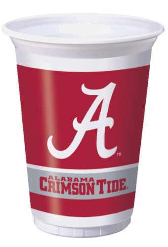 Creative Converting Alabama Crimson Tide Printed 20 Oz. Plastic Cups (8 Count) at Amazon.com