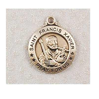 Sterling Silver St. Francis Xavier Medal Round