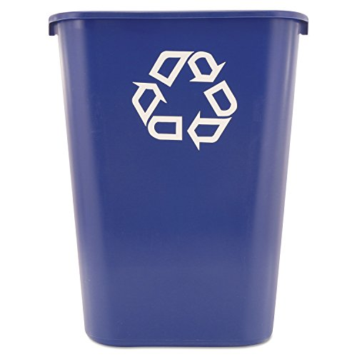 Rubbermaid Commercial 295773 Deskside Recycling Container, Large, Blue