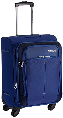 American Tourister Crete Polyester 55cms Ink Blue Softsided Carry-On (49W (0) 01 001)