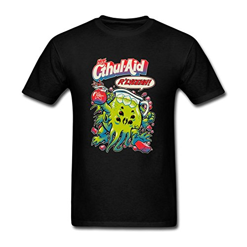 JuDian Lovecraft Kool Aid Cthulhu Cthul-Aid T Shirt For Men (One Direction Larry Shirt compare prices)