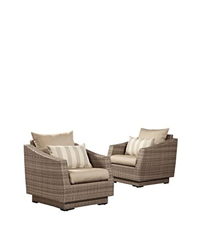 RST Brands Cannes Set of 2 Club Chairs, Grey
