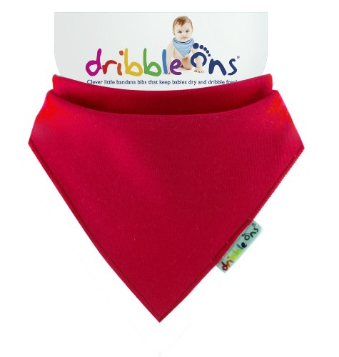 Dribble Ons Baby Bandanna Bibs Keep Babies Dry (Red)
