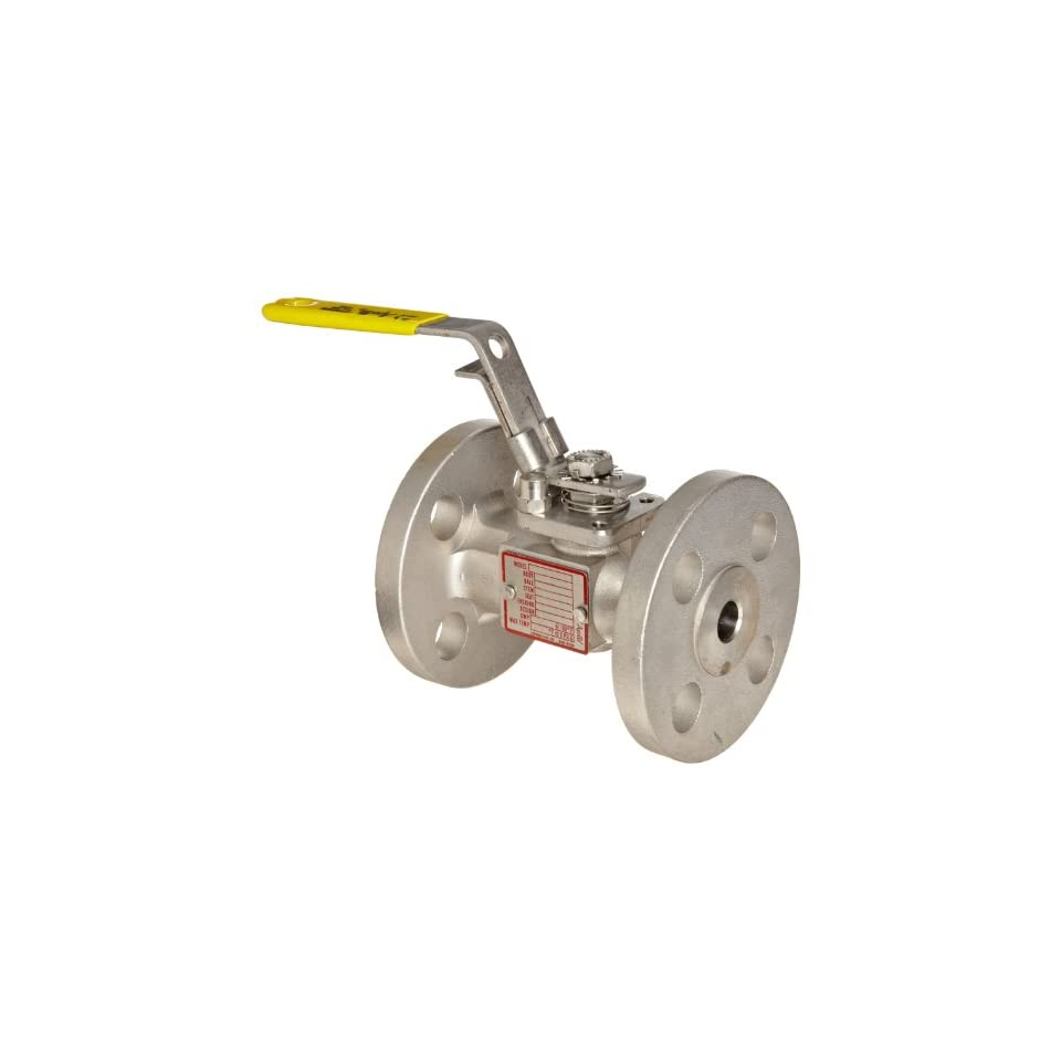 Apollo 87A 200 Series Stainless Steel Ball Valve, Inline, Full Port, Class 150, Lever, 2 1/2 Flanged