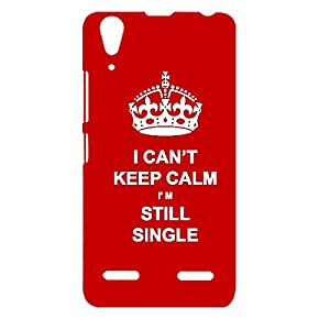 Skin4gadgets I CAN'T KEEP CALM I'm Still Single - Colour -Red Phone Designer CASE for LENOVO A6000 PLUS