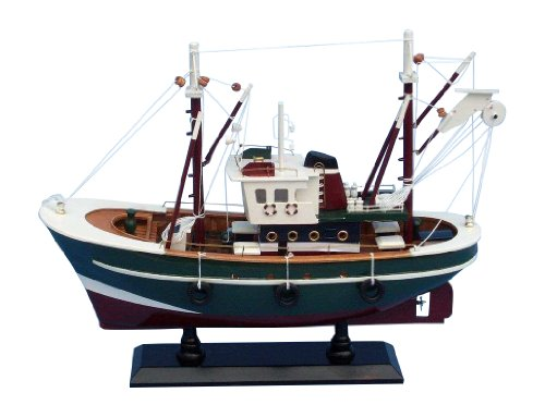 Hampton Nautical  Stars and Stripes Decorative Fishing Boat, 16