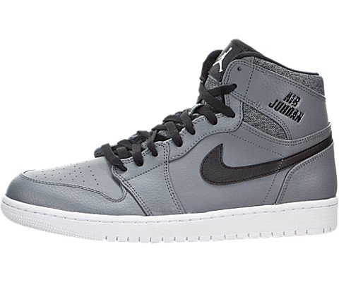 Nike Jordan Mens Air Jordan 1 Retro High Cool Grey/White/Black/White Basketball Shoe 10 Men US (Air Jordan 10 Retro Cool Grey compare prices)