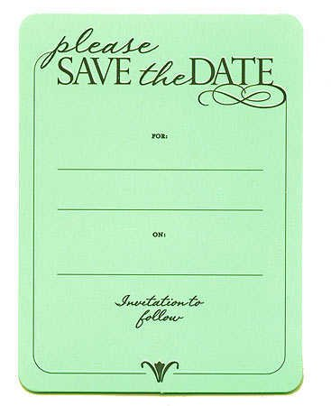 Soft Sage Green Embossed Please Save the Date Invitation to Follow Cards 40 Cards Total 2 Packages of 20 Cards