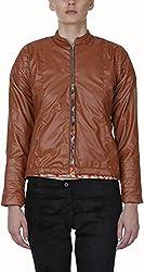 Baba Rancho Women's Regular Fit Jacket (Lj 00211_S, Brown, S)