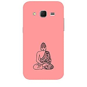 Skin4gadgets Lord Gautum Buddha-Line Sktech on English Pastel Color-Peach Phone Skin for SAMSUNG GALAXY CORE PRIME ( G3608)