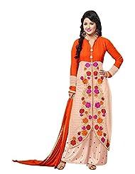 Aarti Saree Women Peach Georgette Straight Salwar Suit Set Palazzo Suit - B015Y71Y62