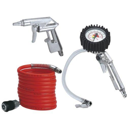 Einhell-Druckluft-Set-3-teilig-passend-fr-Kompressoren-4-m-Spiralschlauch-Reifenfllmesser-Ausblaspistole-kurz